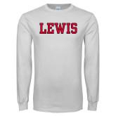 White Long Sleeve T Shirt-Lewis