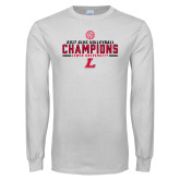 White Long Sleeve T Shirt-2017 Volleyball Champions
