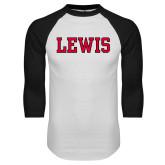 White/Black Raglan Baseball T-Shirt-Lewis