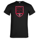 Black T Shirt-Lewis Soccer Shield