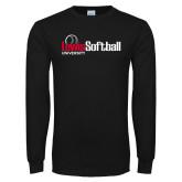 Black Long Sleeve TShirt-Lewis Softball
