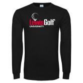 Black Long Sleeve TShirt-Lewis Golf