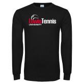 Black Long Sleeve TShirt-Lewis Tennis