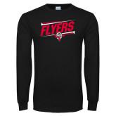 Black Long Sleeve TShirt-Lewis Slanted w/ Logo