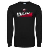 Black Long Sleeve TShirt-#FlightOn