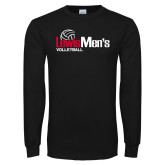 Black Long Sleeve TShirt-Mens Volleyball