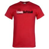 Red T Shirt-Lewis Softball