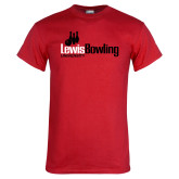 Red T Shirt-Lewis Bowling
