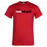 Red T Shirt-Lewis Volleyball