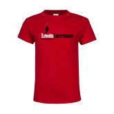 Youth Red T Shirt-Lewis Lacrosse