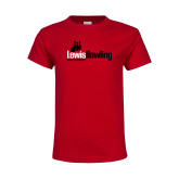 Youth Red T Shirt-Lewis Bowling