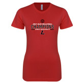 Next Level Ladies SoftStyle Junior Fitted Red Tee-2017 Volleyball Champions