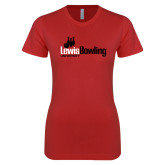 Next Level Ladies SoftStyle Junior Fitted Red Tee-Lewis Bowling
