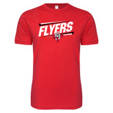 Next Level SoftStyle Red T Shirt-Lewis Slanted w/ Logo