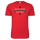Next Level SoftStyle Red T Shirt-2017 Volleyball Champions