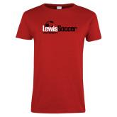 Ladies Red T Shirt-Lewis Soccer
