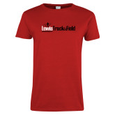Ladies Red T Shirt-Lewis Track & Field