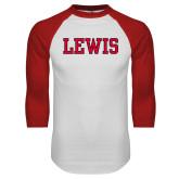 White/Red Raglan Baseball T-Shirt-Lewis