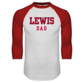 White/Red Raglan Baseball T-Shirt-Dad