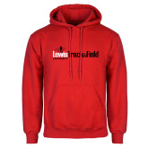 Red Fleece Hoodie-Lewis Track & Field