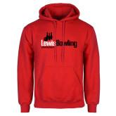 Red Fleece Hoodie-Lewis Bowling