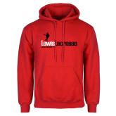 Red Fleece Hoodie-Lewis Lacrosse