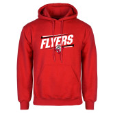 Red Fleece Hoodie-Lewis Slanted w/ Logo