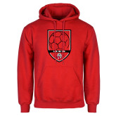Red Fleece Hoodie-Lewis Soccer Shield
