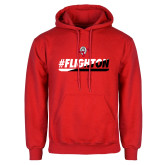 Red Fleece Hoodie-#FlightOn