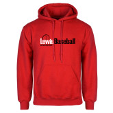 Red Fleece Hoodie-Lewis Baseball