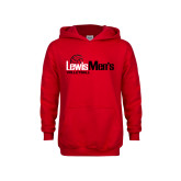Youth Red Fleece Hoodie-Mens Volleyball