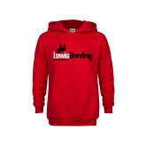 Youth Red Fleece Hoodie-Lewis Bowling