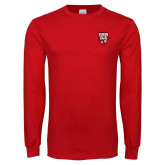 Red Long Sleeve T Shirt-Primary Logo