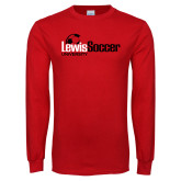 Red Long Sleeve T Shirt-Lewis Soccer
