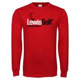 Red Long Sleeve T Shirt-Lewis Golf