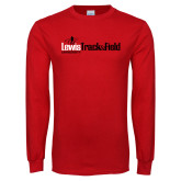 Red Long Sleeve T Shirt-Lewis Track & Field