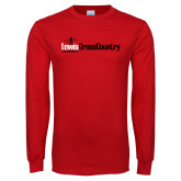 Red Long Sleeve T Shirt-Lewis Cross Country