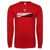 Red Long Sleeve T Shirt-#FlightOn