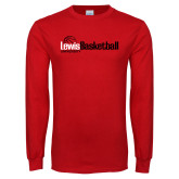 Red Long Sleeve T Shirt-Lewis Basketball