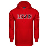 Under Armour Red Performance Sweats Team Hoodie-Lewis
