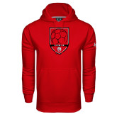 Under Armour Red Performance Sweats Team Hoodie-Lewis Soccer Shield