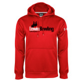 Under Armour Red Performance Sweats Team Hoodie-Lewis Bowling