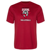 Performance Red Tee-Volleyball