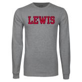 Grey Long Sleeve T Shirt-Lewis