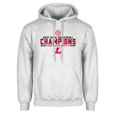 White Fleece Hoodie-2017 Volleyball Champions