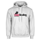 White Fleece Hoodie-Lewis Bowling