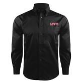 Red House Black Herringbone Long Sleeve Shirt-Lewis