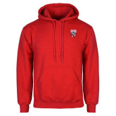 Red Fleece Hoodie-Primary Logo