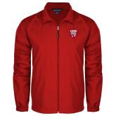 Full Zip Red Wind Jacket-Primary Logo