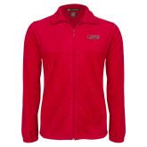 Fleece Full Zip Red Jacket-Lewis